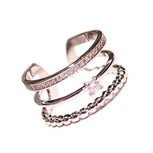 Clover Diamond Ring Ladies Accessories Concise Style Fashion Simple Wild Unique