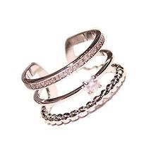 Clover Diamond Ring Ladies Accessories Concise Style Fashion Simple Wild Unique