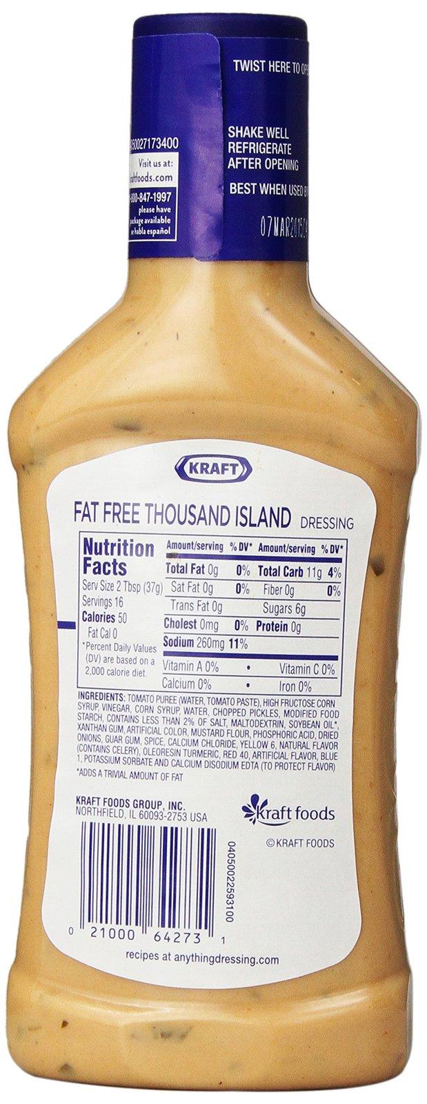 Kraft Fat Free Thousand Island 16 Oz And 34 Similar Items