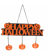 Happy Halloween Decoration Hanging Hang Tag Window Decoration Pumpkin St... - $7.50