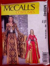 McCall's Costume M6940 Fantasy Dress UNCUT 2014  Size A5 6-14 Halloween Costume - $9.99