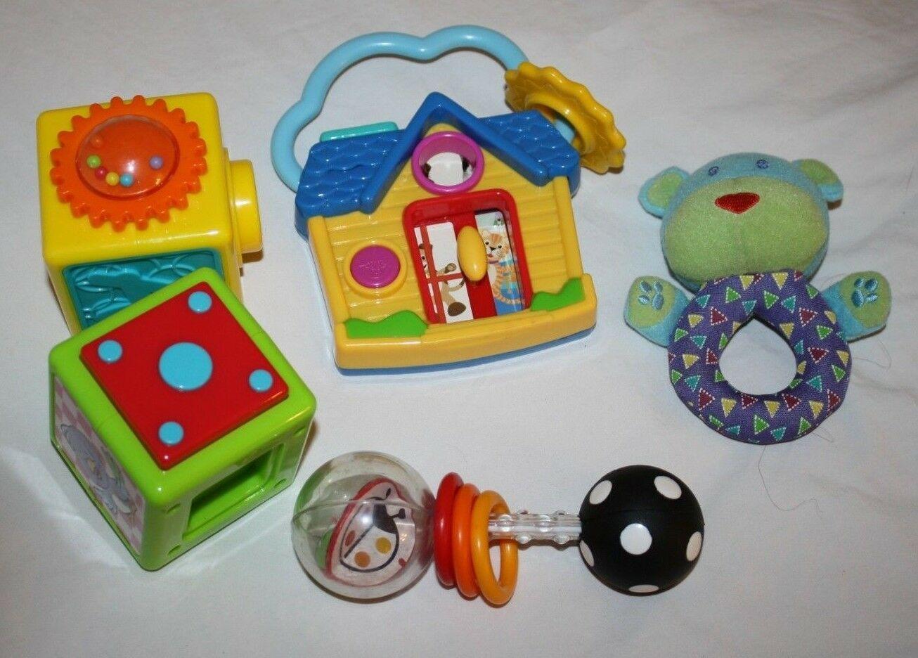 Baby Einstein House Hello Good Bye Spanish Sassy Spin Shine Rattle Lot Baby Toys - $13.52
