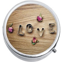 Cookie Cutter Love Roses Medicine Vitamin Compact Pill Box - $9.78