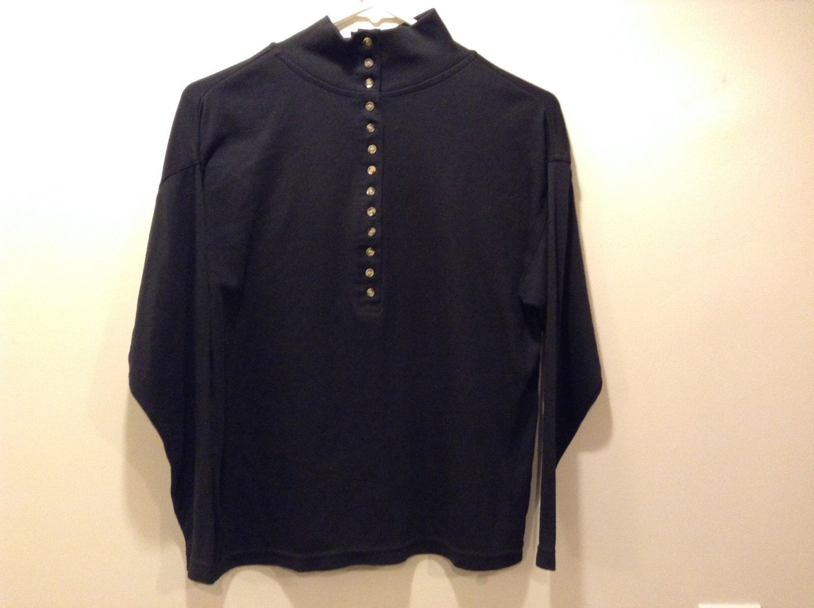 Headliners Black Long Sleeve Pullover Button Up Shirt Sz S