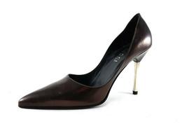 Gucci Burgundy Leather Stiletto Heels Pumps, Women's Shoes Size US 9.5 / EU 39.5 - $143.28