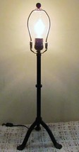 Antiqued Bent Iron Candle Stand Lamp - Converted to Electric - Colonial ... - $26.24