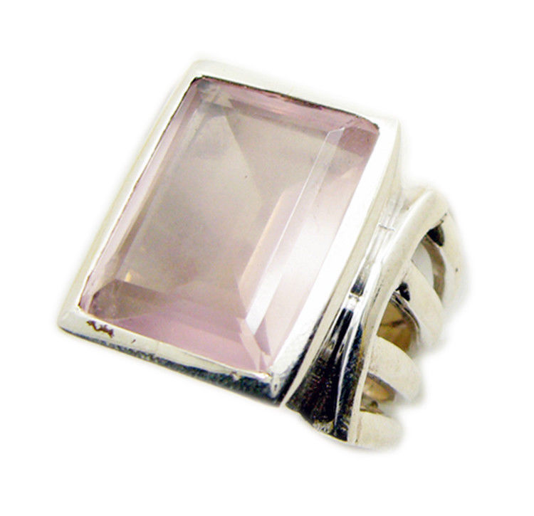 pulchritudinous Rose Quartz 925 Sterling Silver pink Ring Natural casually US