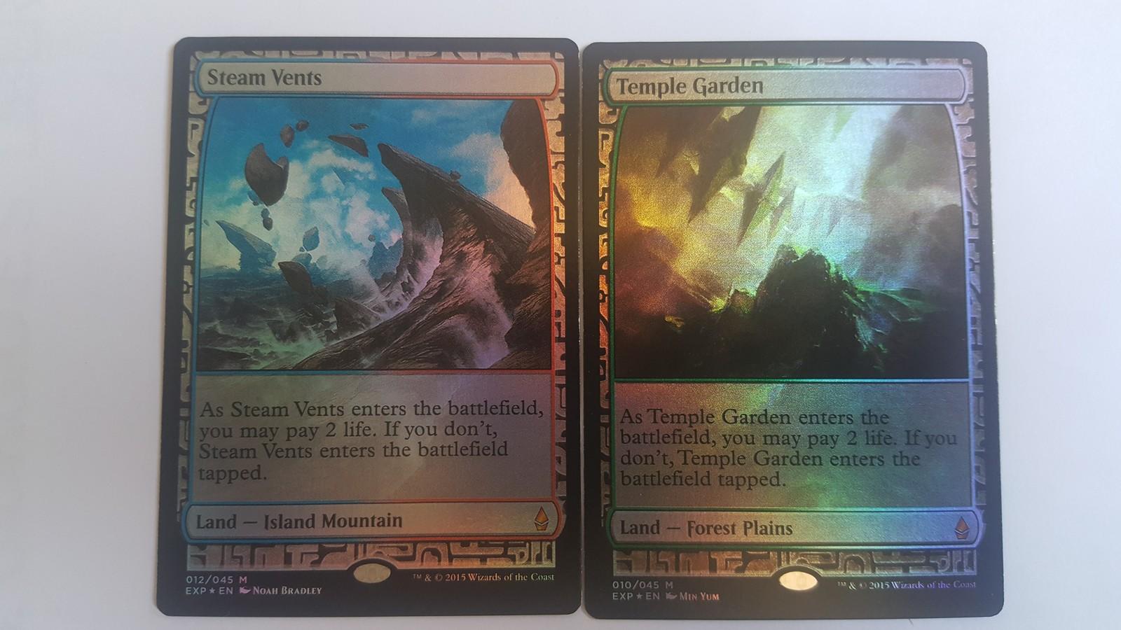Mtg Magic PROXY FOIL 10X Shock Lands Zendikar Expeditions 10 Cards Commander FOI