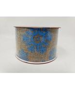Christmas House Blue Snowflake Burlap Ribbon - New - $9.99