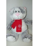 2015 Pet Smart Lucky the Cat gray white Squeaker Plush Luv a Pet dog  ch... - $9.89