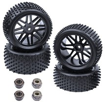 Hobbypark 4-Pack 1/10 Scale Off Road Buggy Tires & Wheel Rims Set Front ... - $17.16