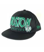Boston Celtics New Era Snapback Hat Cap Black One Size Mens HWC NBA Bask... - $30.50