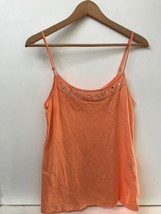 American Eagle Outfitters Womens Tank Top Cami Orange  Beaded Sequins Size M - $9.95
