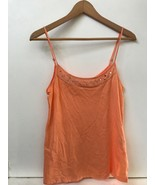 American Eagle Outfitters Womens Tank Top Cami Orange  Beaded Sequins Si... - $9.95