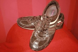 Diesel Parandy Brown Partial Leather Lace Up Sneaker Style Shoes Sz 9.5 - $32.54