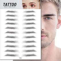 TMYIOYC Eyebrow Tattoo Stickers, 8 Styles Eyebrow Shapes Imitation Waterproof Na image 8