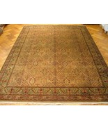 Brown All-Over Orietal Style Reproduction Handmade 9x13 Jaipur Wool Gorg... - $2,519.79