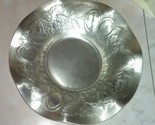 Vintage Forged EVERLAST Aluminum Stamped Ruffled Bowl #1013 Fruit Pattern 8.5""