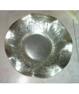Vintage Forged EVERLAST Aluminum Stamped Ruffled Bowl #1013 Fruit Patter... - £13.56 GBP