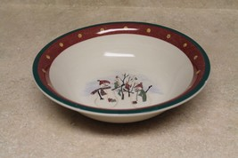 "ROYAL SEASONS STONEWARE SNOWMAN 10"" Vegetable Serving Bowl - $8.00"