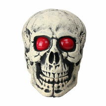 "Northlight 18"" Lighted Skull Head with Red Eyes Halloween Table Top Deco... - £33.49 GBP"