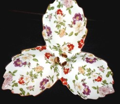 NEW Royal Danube Sectioned Serving Dish Multicolored Roses & Gold trim  ... - $13.91