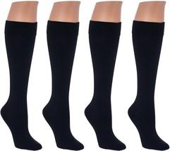 Legacy Graduated Compression Trouser Socks Flat Seam 4Pc Black M/L W NEW... - ₨1,349.60 INR
