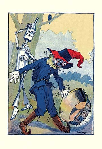 Primary image for The Tin Man and Scarecrow by John R. Neill - Art Print