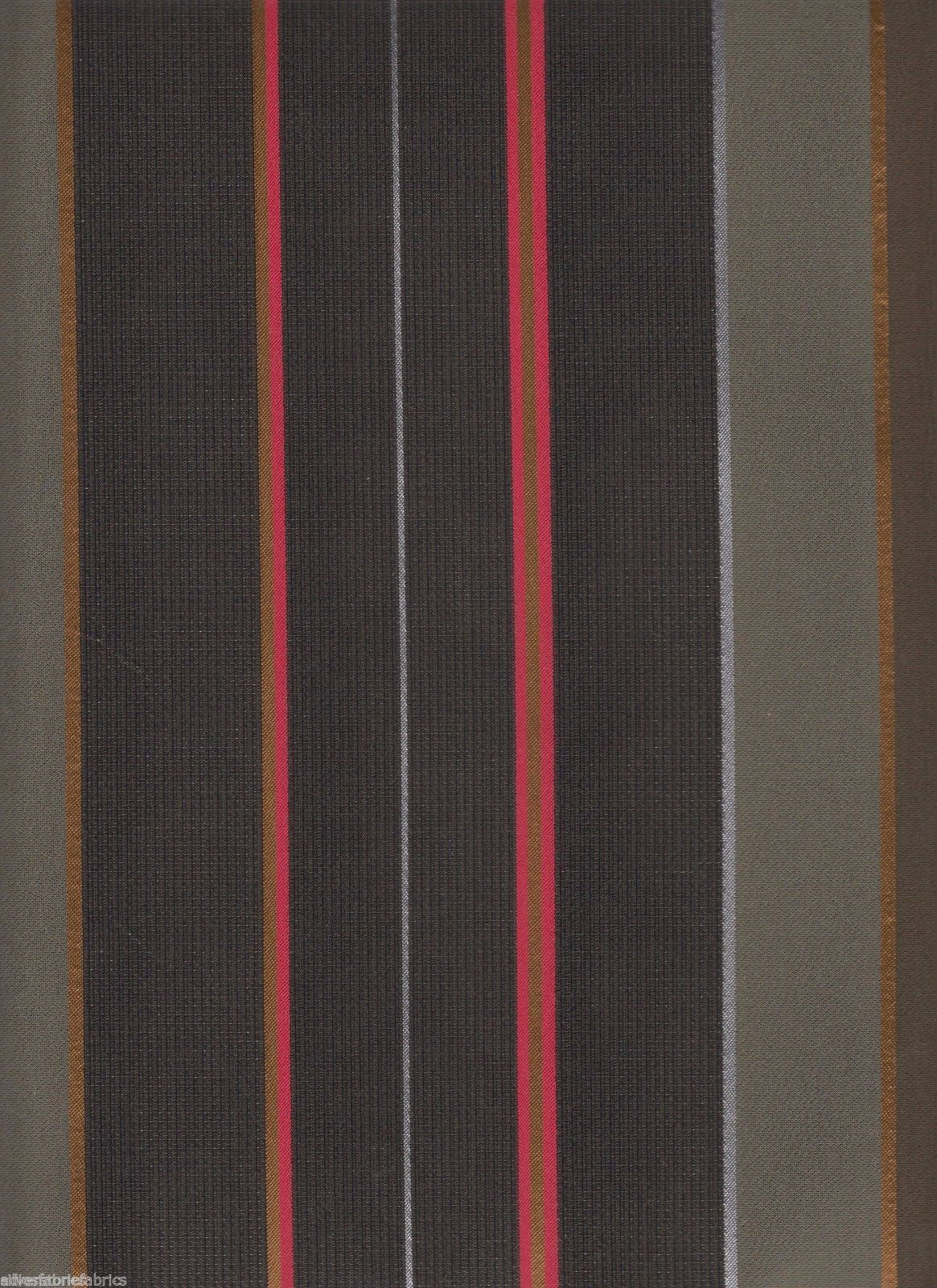 1.25 yds Maharam Upholstery Fabric Repeat Classic Stripe Cadet 462170-004 FG-a