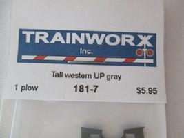 Trainworx Stock #181-7 Snowplow Tall Western UP Gray N-Scale- image 2
