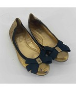 Kate Spade Gold Flat with Black Bow Women's 8.5 - $30.00