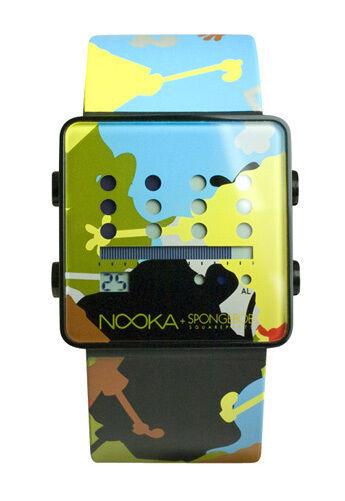 Nooka Zub Zot Alluminio Spongebamo Squarepants LCD Digitale Orologio Pennino