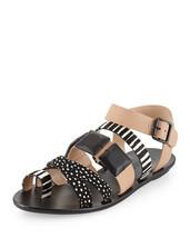 NIB $295 Loeffler Randall Sedona Calf-Hair Sandal 6.5 - $70.11
