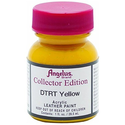 Angelus Collector's Edition Acrylic Leather Paint - 1 Ounce, DTRT Yellow