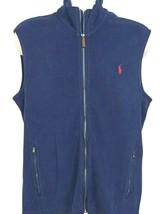 NEW Polo Ralph Lauren $85 Full Zip Sweater Vest Sleeveless Navy Men's, M... - $53.96