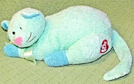 "12"" Ty KITTYBABY PILLOW PALS Rattle PASTEL GREEN Terry Cloth Stuffed 200... - $28.05"