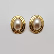 Vintage Dotty Smith Faux Pearl Gold Tone Earrings  - $11.64