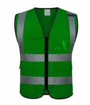 Reflective Vest Workplace Road Working Clothes Sports Outdoor Safety Clo... - £11.99 GBP