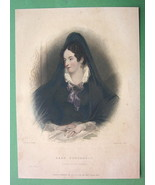 LORD BYRON'S Love Lady Pinchbeck - Finely Hand Colored H/C Antique Print - $9.45