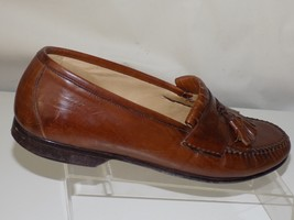 JOHNSTON & MURPHY; BROWN LEATHER;MADE IN ITALY; TASSLE; MENS SIZE 10 M - $34.64