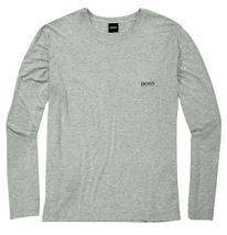 Hugo Boss Men's Modal Long Sleeve Pajama Top Loungewear Shirt Gray 50188508 image 3