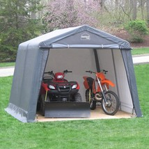 Outdoor Storage Shed Galvanized Steel Frame Waterproof Fabric 12 x 12 ft... - $502.53