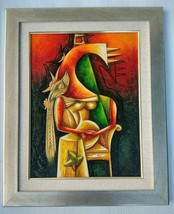 """Original Abstract Framed Painting on Canvas 25-1/2""""x31-1/2"""" - Modern Art - $239.99"""