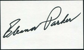 ELEANOR PARKER SIGNED 3X5 INDEX CARD THE SOUND OF MUSIC CAGED DETECTIVE ... - $27.71