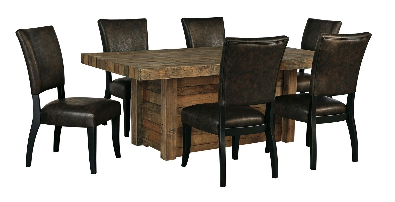 Sommerford 7 piece rectangular dining room table set for 7 piece dining room set with bench