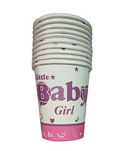 Baby Girl Party Paper Cup Drink Cups Set Of 10 - $12.43