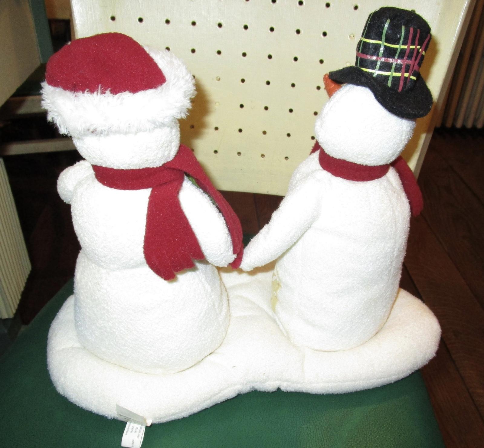HALLMARK MR & MRS SNOWMAN JINGLE PALS 2003 MUSIC MOTION 1ST FRESH BATTERIES