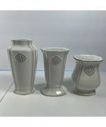 Southern Living At Home Petite Bud Vases Flower Vase White Gray 41054 New - $21.77