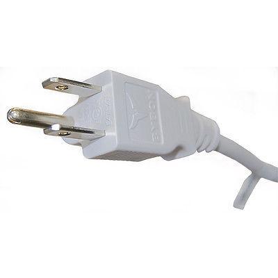 BYBON 12ft 14 AWG SJT Universal Power Cord for computer printer White UL