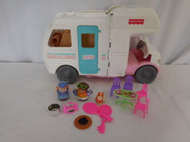 Fisher Price Dollhouse Loving Family Vacation Camper RV Motor Home + Access 1998 - $32.02